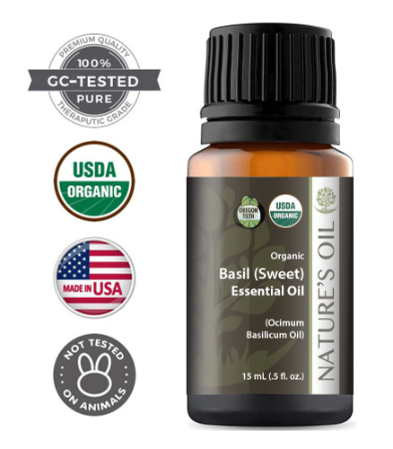 Certified Organic Basil Sweet Essential Oil