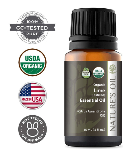 Certified Organic Lime Distilled Essential Oil