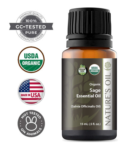 Certified Organic Sage Essential Oil