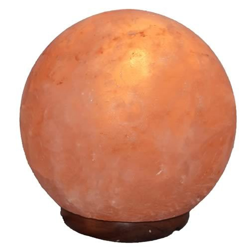 Natural Crafted Small Globe Himalayan Salt Lamp (6 Inch)