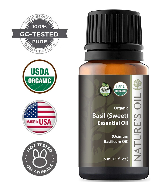 Basil Sweet Certified Organic Essential Oil Nature S Oil