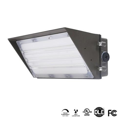 LED WALL PACK LIGHTS, SEMI  CUT OFF, 60W, 7875 LUMEN, 5000K