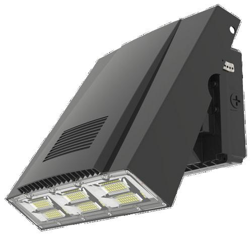 Adjustable LED WALL PACK LIGHT, 100W,  400W EQUIVALENT, 12,000 LUMEN, 5000K