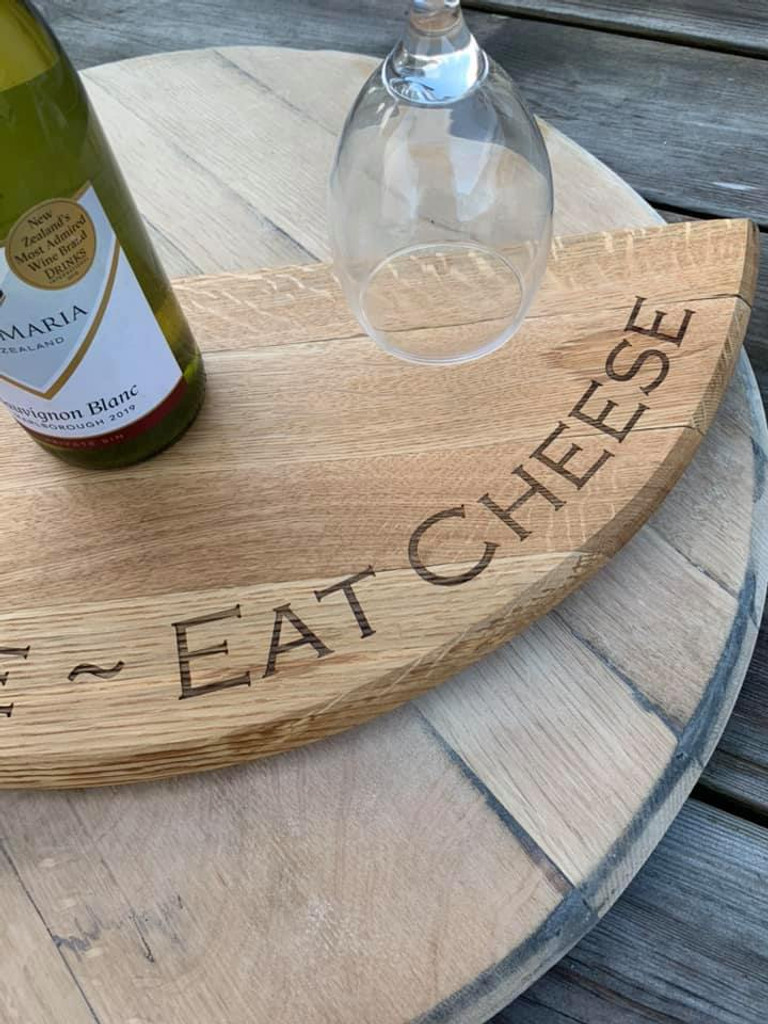 Wine Bottle/Glass Caddy with Cheeseboard