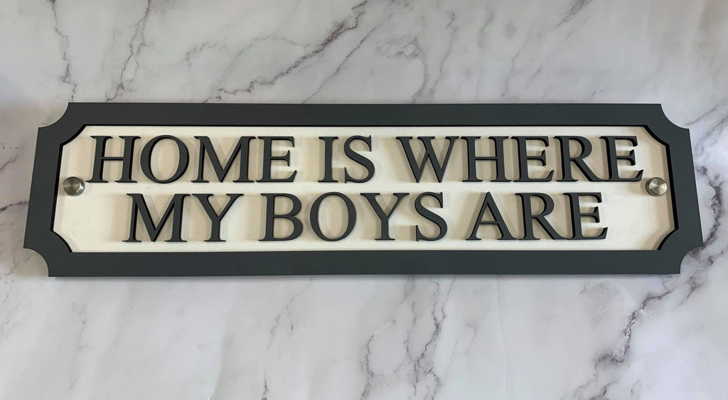 Home is Where My Boys Are Sign