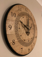 Whisky Barrel Lid Clock
