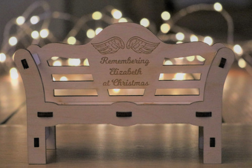 Christmas Remembrance Ornamental Bench