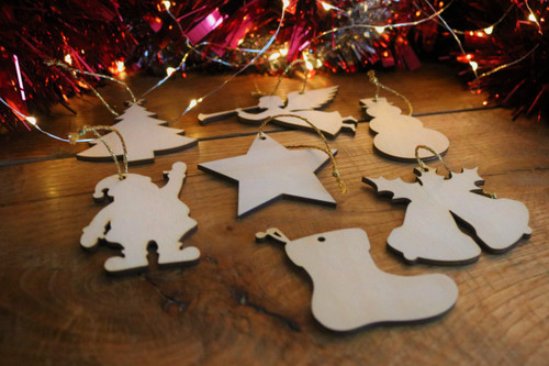 Wooden Christmas Gift Tags - pack of 7