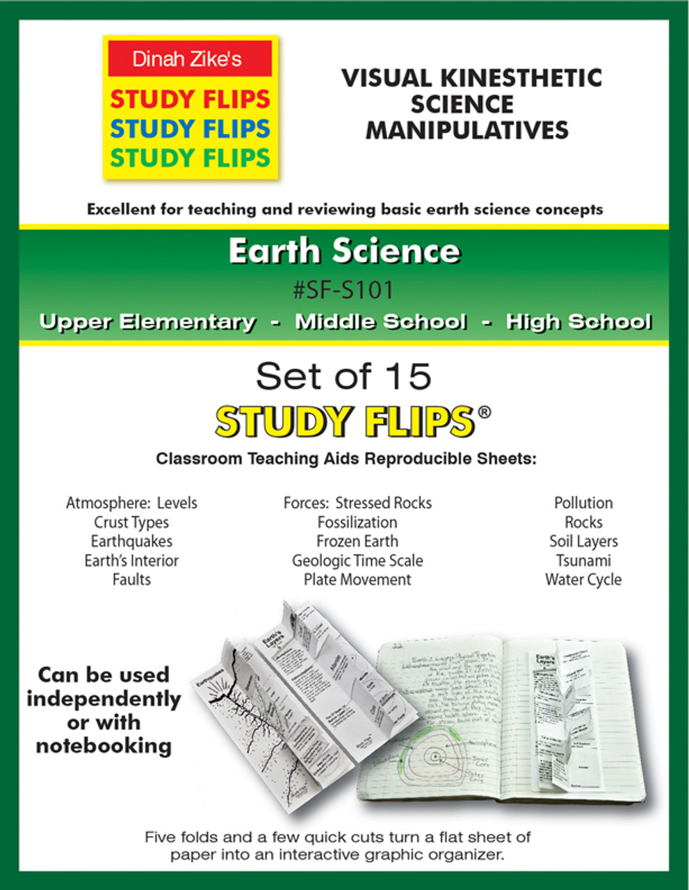 Earth science study flips cover sheet web