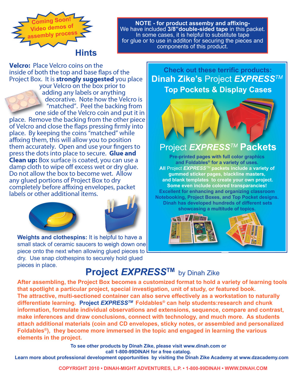 Project boxes page 2