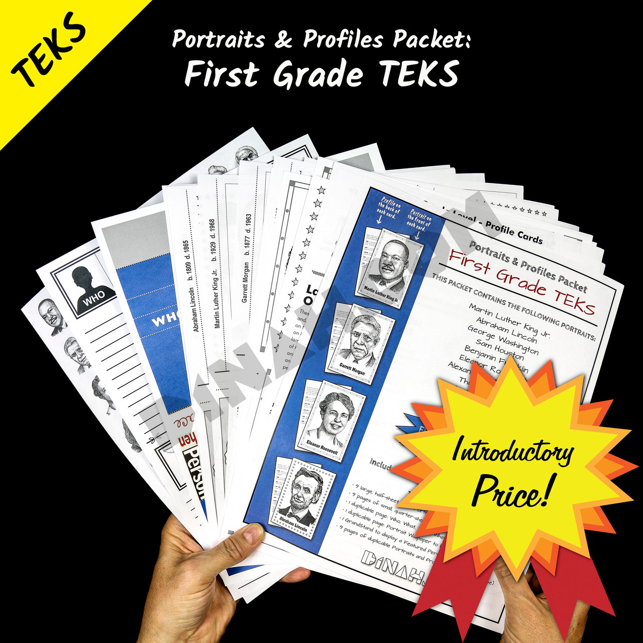 Portraits and Profiles Packet: First Grade TEKS