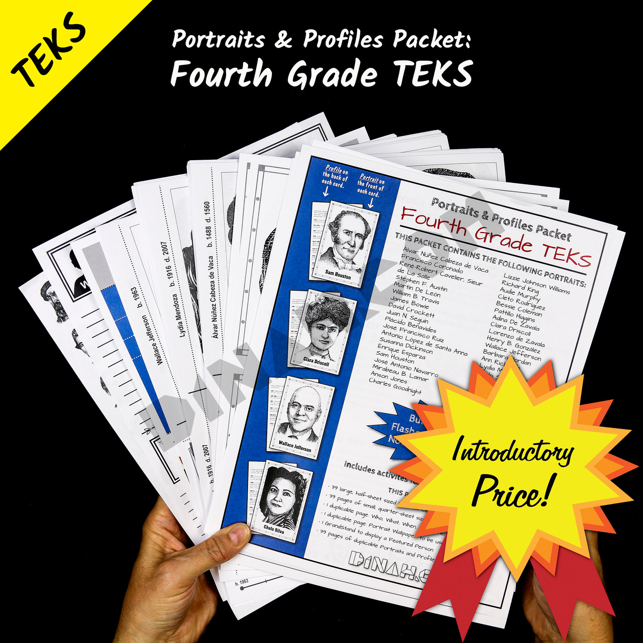 Portraits and Profiles Packet: Fourth Grade TEKS