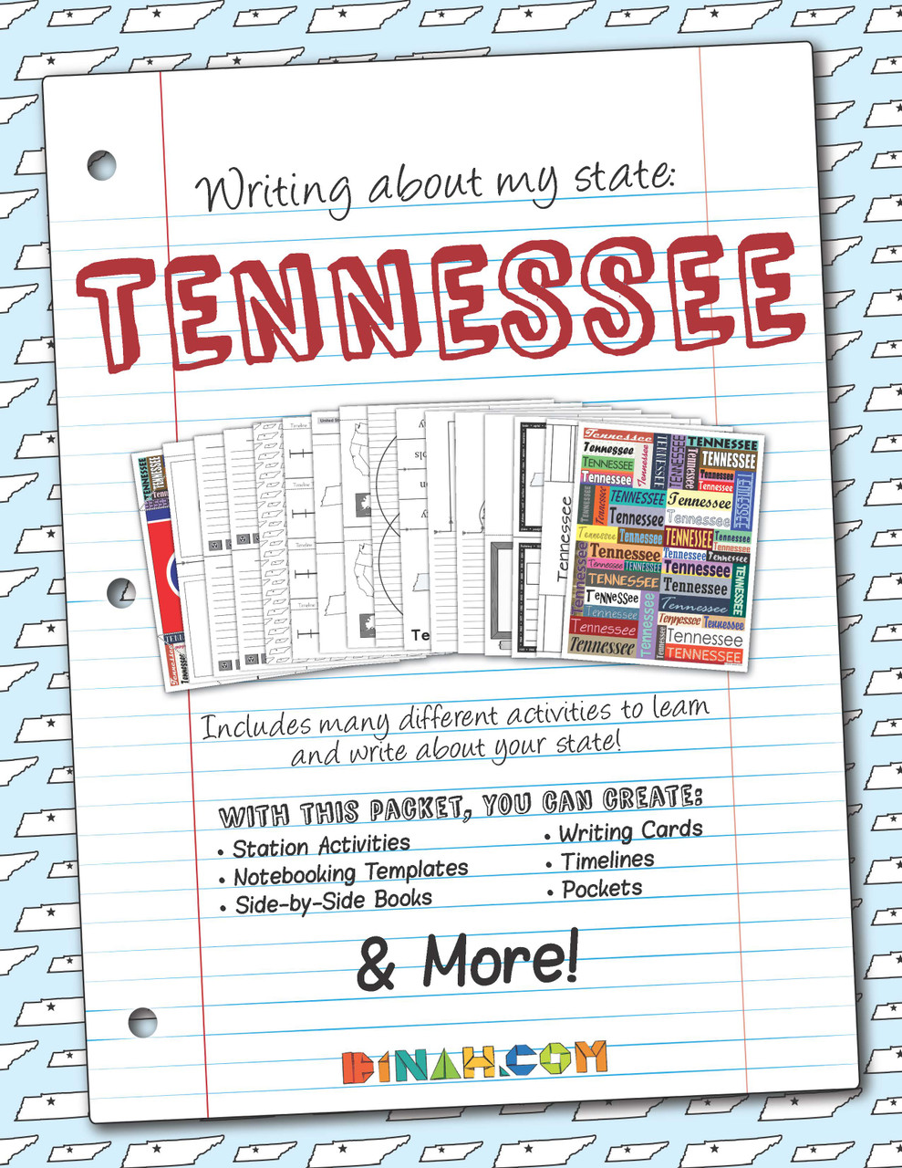 Writing About My State Packet: Tennessee