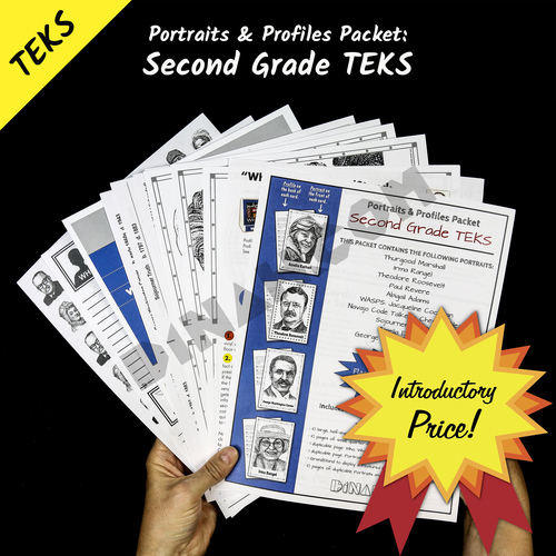 Portraits and Profiles Packet: Second Grade TEKS