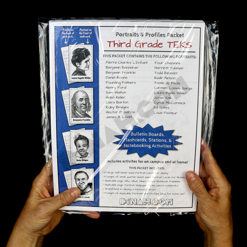Portraits and Profiles Packet: Third Grade TEKS