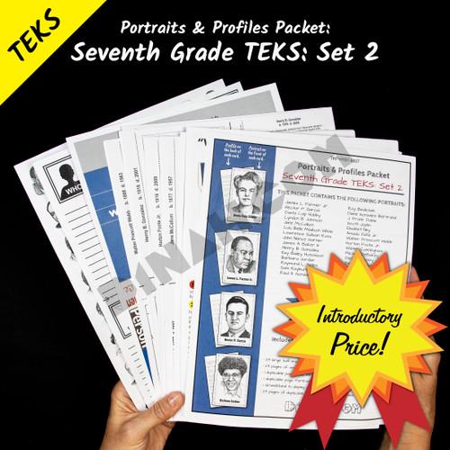 Portraits and Profiles Packet: Seventh Grade TEKS: Set 2