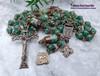 Our Lady Undoer of Knots Green Quartz Bronze Rosary