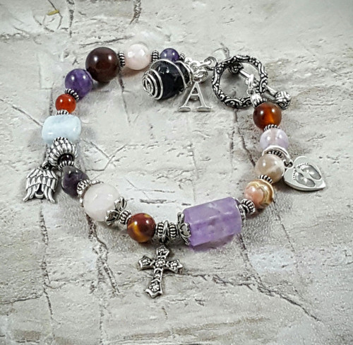 Miscarriage Child Loss Sterling Silver Faith Emotional Healing Bracelet