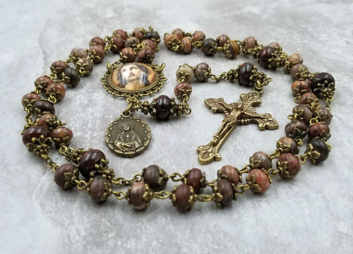 Ecce Homo Face of Jesus Jasper Handcrafted Rosary for Protection, Stress,Anxiety