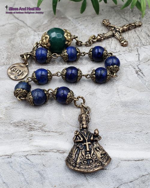 Infant of Prague Lapis Lazuli Chaplet