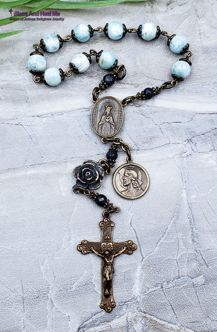 Immaculate Sacred Heart Larimar  Chaplet