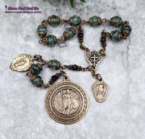 St Raphael Devotional Bronze Chaplet