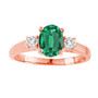 Oval Emerald 3-Stone Ring In 14K Gold (1.05ctw)