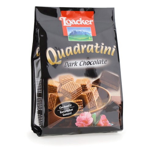 Loacker Quadratini 250gx18 Dark Chocolate