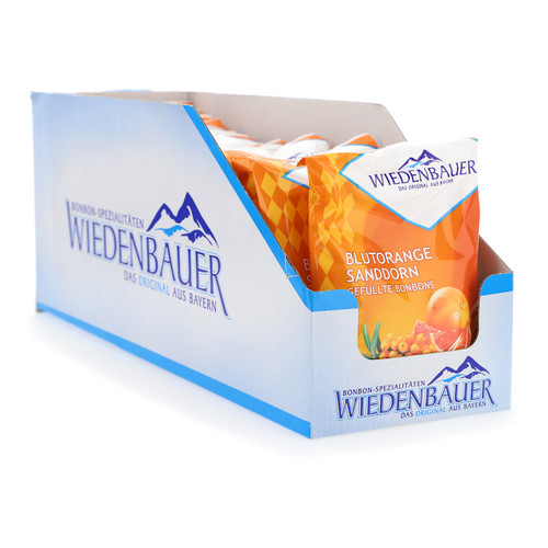 Wiedenbauer Caramelle 100gx20 Arancia rossa e Olivello spinoso