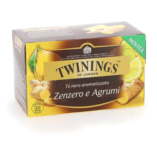 Twinings Te nero Fruttato 20ff x12 Zenzero e agrumi