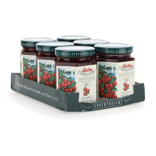 Darbo Confettura ricco di frutta 200g x6 Mirtilli rossi