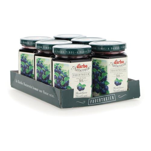 Darbo Confettura ricco di frutta 200g x6 Mirtilli neri