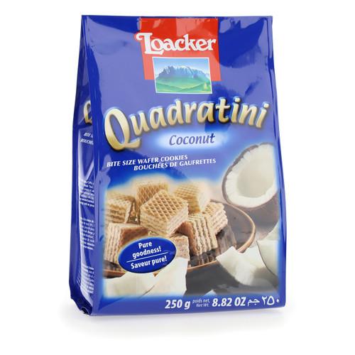 Loacker Quadratini 250gx18 Coconut