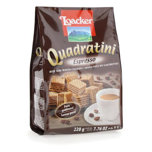 Loacker Quadratini 220gx18 Espresso