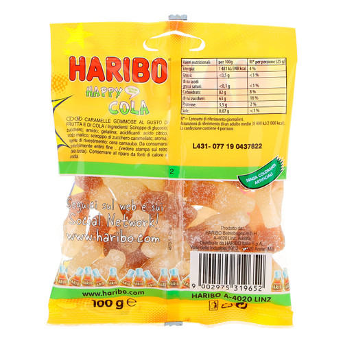 Haribo 100gx30 Happy Cola aspro