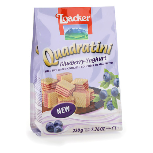 Loacker Quadratini 220gx18 Blueberry-Yogurt