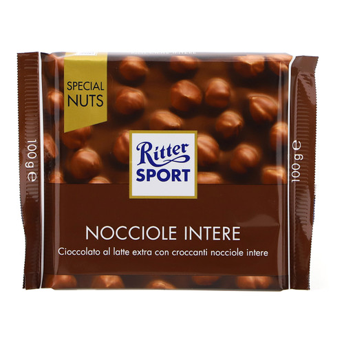 Ritter Sport Special Nuts 100gx20 Nocciole intere