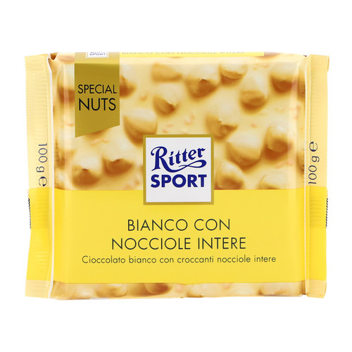 Ritter Sport Special Nuts 100gx10 Bianco Nocciole intere