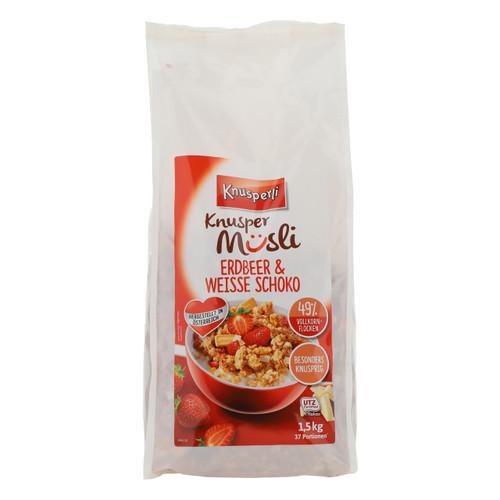 Bioquelle Knusperli Muesli 1,5kgx3 Fragola e Cioccolato bianco