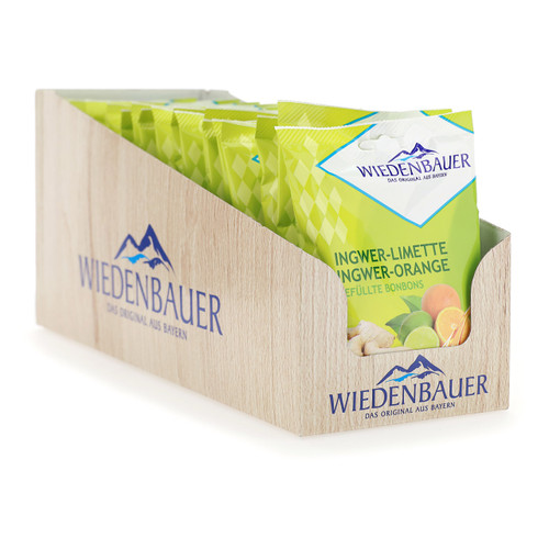 Wiedenbauer Caramelle 100gx20 Zenzero Lime e Zenzero Arancia