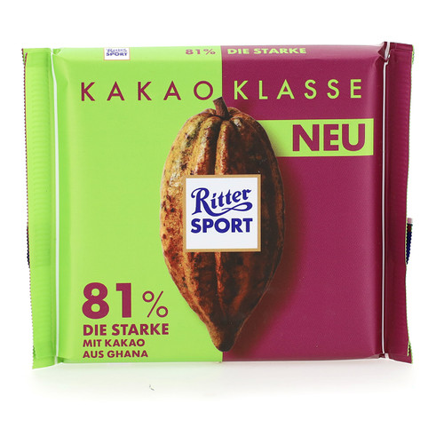 Ritter Sport Cacao Selection 100gx12 Ghana 81%
