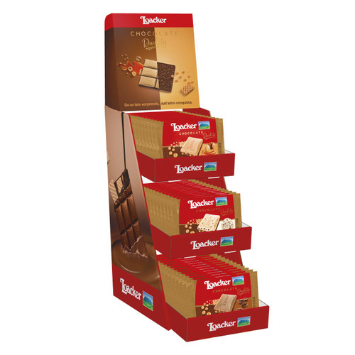 Loacker Cioccolato Duality 50gx36 assortito - Espositore