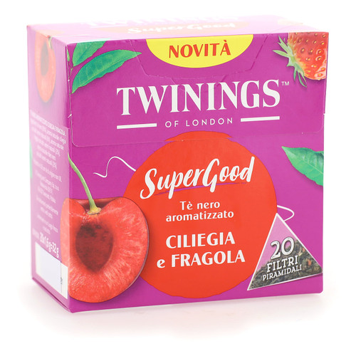 Twinings SuperGood 20ff x4 Ciliegia e Fragola