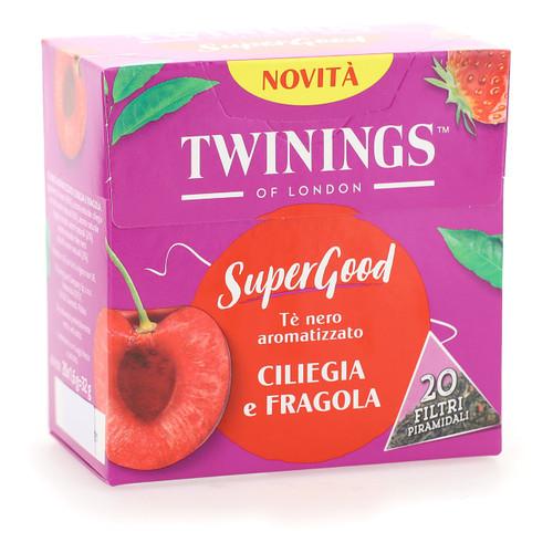 Twinings SuperGood 20ff x4 Ciliegia e Fragola
