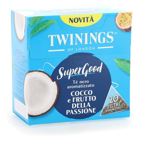 Twinings SuperGood 20ff x4 Cocco e Frutto della Passione