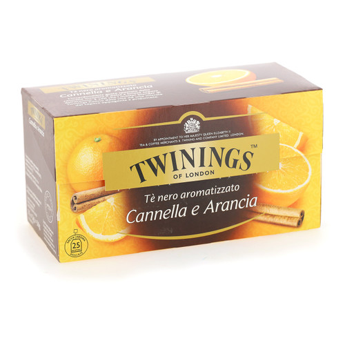 Twinings Te nero Fruttato 25ff x12 Orange e Cannella