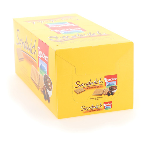 Loacker Sandwich 25gx25x6 Chocolate