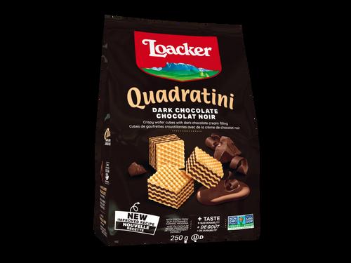 Loacker Quadratini 250gx6 Dark Chocolate