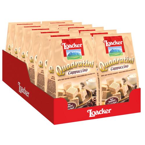 Loacker Quadratini 110gx12 Cappuccino