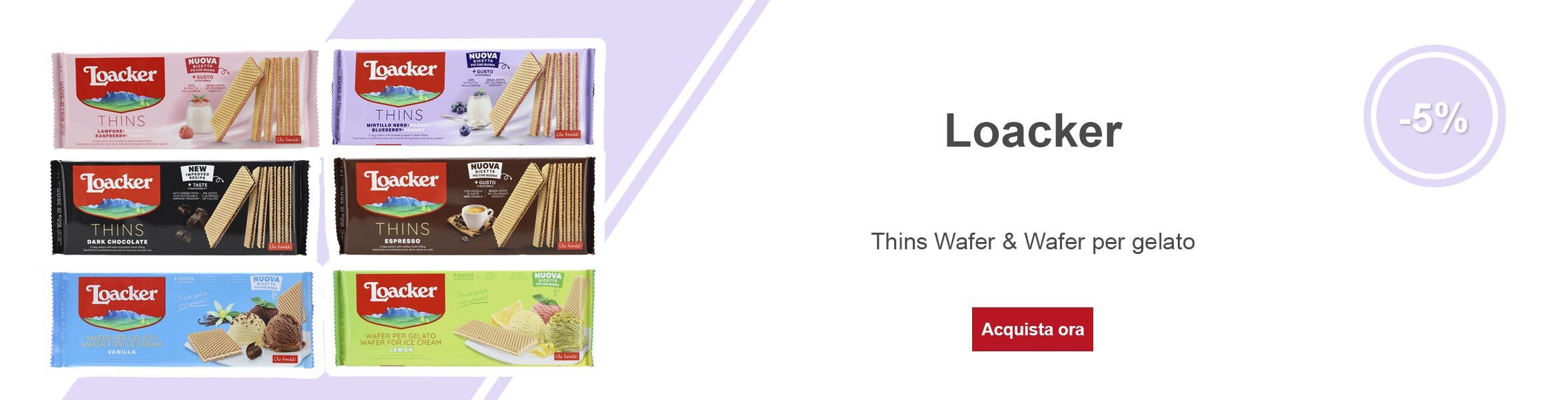 Loacker Thins & Wafer per Gelato 150g